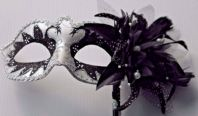 Black & White Swan Pearl Mask